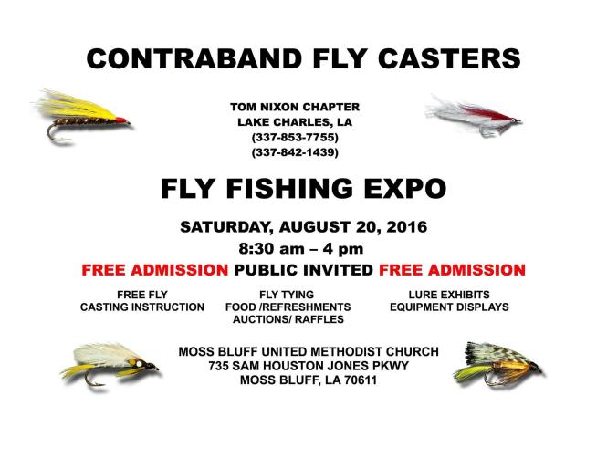 Contraband Fly Casters Expo flyer
