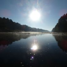 A little after sunrise on the river
