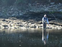 Eric wading and casting
