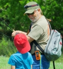 John P. coaching one of our younger participants