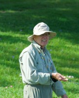 Raymond L. using a slow retrieve