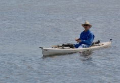 Ron M. in his kayak on Duck Lake