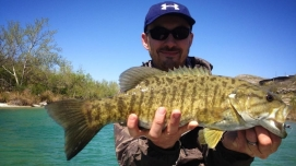 Matt Blyth and a nice smallie on the Devil's River 2