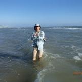 Ladyfish in hand