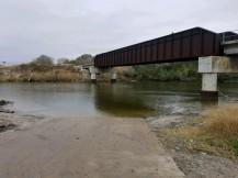 Garcitas Creek running clean, but fresh