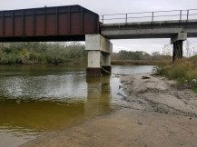 Garcitas Creek running clear, but fresh