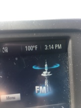 Temperature on the windshield on the way